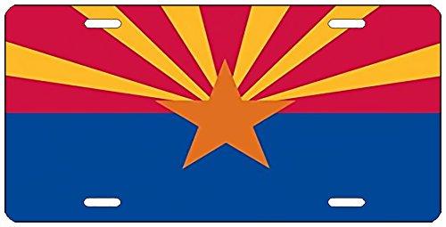 Rogue River Tactical Arizona State Flag License Plate Novelty Auto Car Tag Vanity Gift AZ