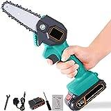 Handheld Cordless Chainsaw | Mini 4-Inch...