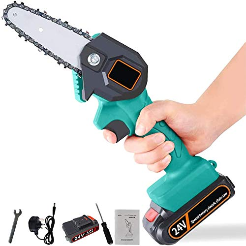 Handheld Cordless Chainsaw | Mini 4-Inch Cordless Electric...