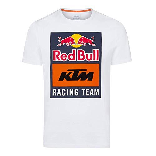 Red Bull KTM Emblem T-Hemd, Weiß Herren XX-Large T Shirt, KTM Racing Team Original Bekleidung & Merchandise