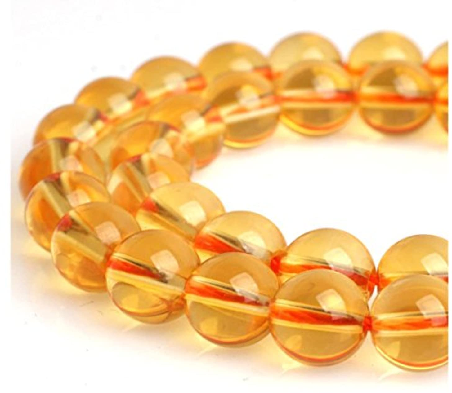 Top Quality Natural Citrine Gemstone Loose Beads 4mm Round Spacer Beads 15.5