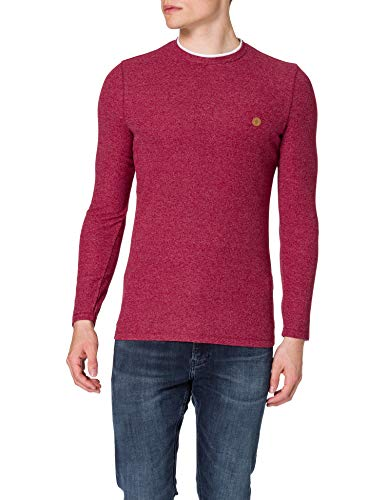 Springfield Camiseta, Vino, L para Hombre