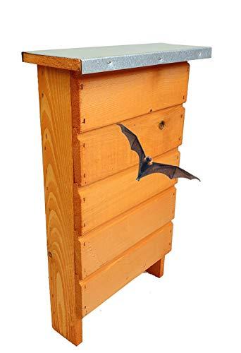 BLIZNIAKI FledermausKasten 9x27x42cm Fledermaushaus aus Holz Nistkaste Fledermauskasten zum Aufhängen Unterschlupf für Fledermäuse Schläger Geeignet für Fledermäus BAT Box BDN1 B