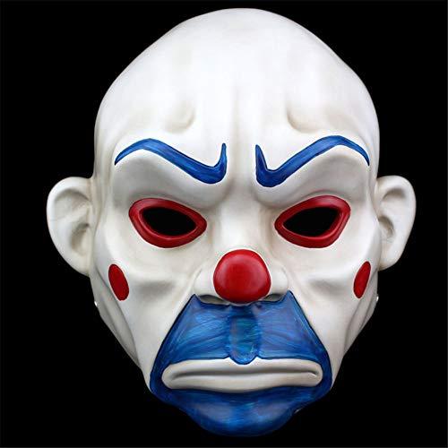 Resina máscara de Halloween máscara de Payaso máscara del Robo máscaras de Terror del Payaso ladrón máscara del Partido de Navidad del Traje de Halloween Props Divertido de rol Juguetes,Gris