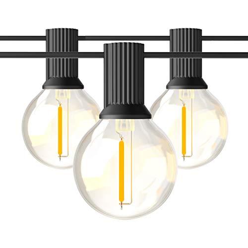BRIMAX Globus LED-Lichterkette, G40 23 + 2 Lampen von 1 W, 7,62 Meter 25 Fuß/Fuß, IP45 wasserdicht, LED E12 Lampe Pelletschraube Warmweiß, Dekoration für Party Hochzeit Weihnachtsgarten