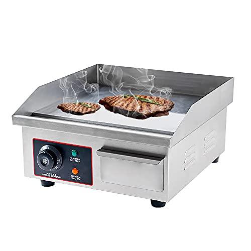 Piastra elettrica da banco - Piastra riscaldante professionale antiaderente da 14 'x 11', barbecue da ristorante, 1500W,...