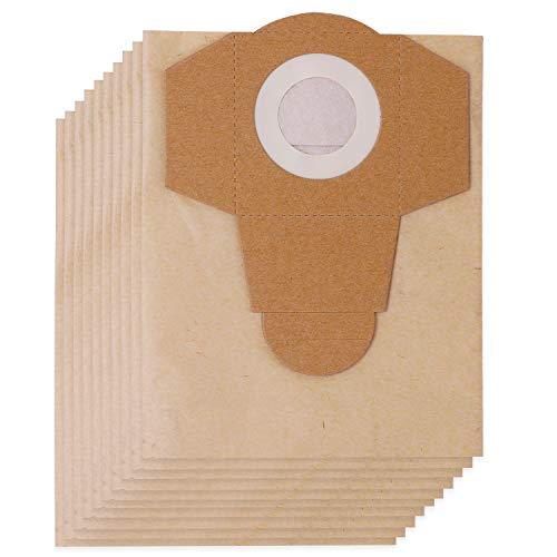 KEEPOW 10 Bolsas para Aspiradora Einhell (20 litros) para Superficies húmedas y secas, Pack Familiar