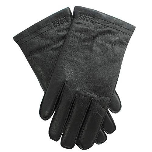 Hugo Boss Herren Lederhandschuhe mit Futter, Kranton3, Black, size 8