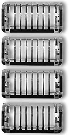 Peines-Guía para OneBlade&OneBlade Pro, QP2530, QP2630, QP6620, QP6520, Cojillas de la Cara Sà Barba 4 piezas/Kit de recambio Mixto recambios Comb (1/2/3/5mm)