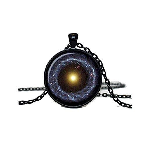 Collar con colgante de nebulosa para hombre, diseño de galaxia