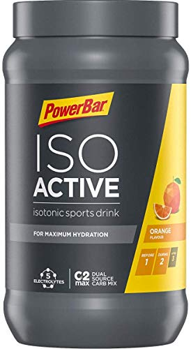 PowerBar Isoactive Isotonisches Sportgetränk (5 Elektrolyte und C2max Dual Source Carb Mix) - Orange (1 x 600g)