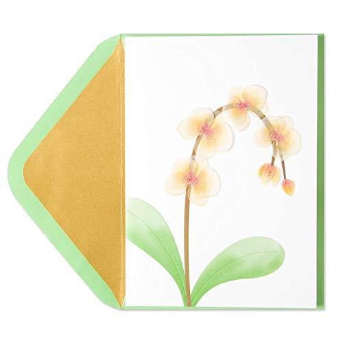 Papyrus Sympathy Card Orchids Vellum Sculpture, 1 Each