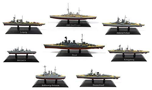 OPO 10 - Lote de 8 Buques de Guerra 1/1250 Leipzig + SMS + HMS + Bremen + Admiral Scheer (WSL8) (copie)