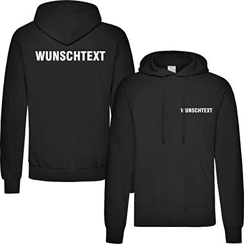 T-Shirt Security | Crew | Ordner | WUNSCHTEXT | Poloshirt | Hoodie | Jacke | Warnweste (XL, Wunschtext - Hoodie)