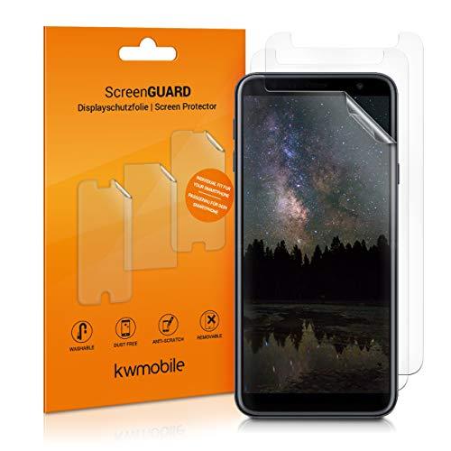 kwmobile 3X Folie kompatibel mit Samsung Galaxy J4+ / J4 Plus DUOS - klare Bildschirmschutzfolie Bildschirmschutz kristallklar Bildschirmfolie Schutzfolie