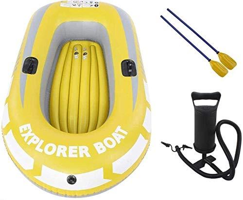 YYhkeby Juego de Bote Inflable, Kayak Inflable, Canoa de 2 Personas de PVC Explorer, Pesca Plegable Resistente al Desgaste para derivar Jialele (Color : -)