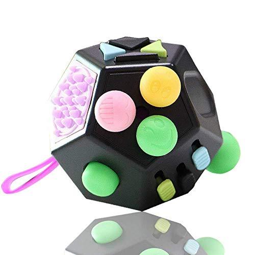 Compre Ahora: Juguete de descompresión de Cubo de Rubik de 12 Caras, Juguete de Cubo para Adultos, Juguete para aliviar el estrés y la ansiedad, Entrega aleatoria Interesante