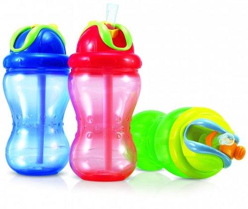 Nuby Soft Flip It 355ml Leak-Proof Straw Bottle