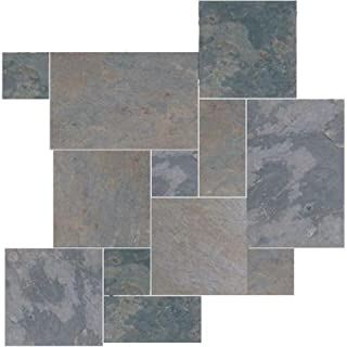 Natural Stone Collection Indian Multicolor Versailles Pattern Slate Floor and Wall Tile Kit (15.75 sq. ft. / kit)