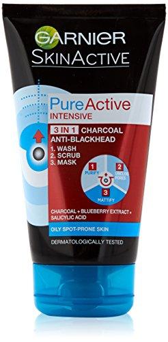 Máscara exfoliante de lavado contra puntos negros, de la marca Pure Active 3in1