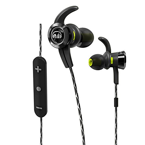 Monster iSport Victory Bluetooth Wireless In-Ear Headphones (Earbuds) - Black with Microphone, Sports Headphones, Running, Noise Isolation