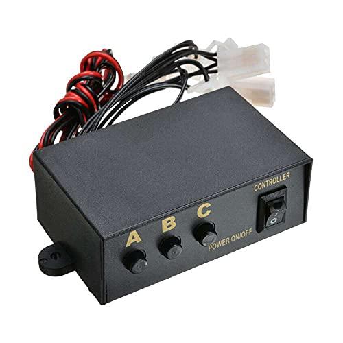 NEL 12 V M9 uno para seis controladores caja, 1 unids 12 V 6 vías LED estroboscópico flash luz emergencia lámpara intermitente controlador caja