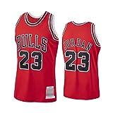 WOLFIRE WF Basketball Jersey NBA Chicago Bulls #23 Michael Jordan Embroidered Breathable Wear Resistant Fan T-Shirt - Multicolour - M