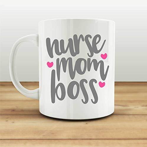 Mugs-XHPrint Nurse Mom Boss Mug Funny Gifts for Her Coffee Ceramic Cup