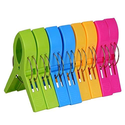Janly Clearance Sale Toallero de Clip para Toalla de Playa para Silla de Playa o tumbonas de Piscina, Mantiene la Toalla de plástico para el día de San Patricio en Multicolor