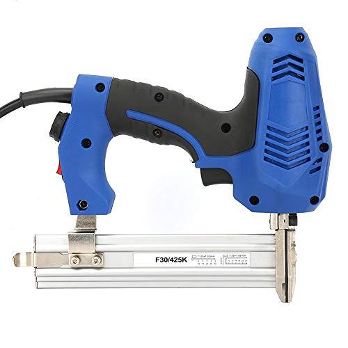 Elektrische Nagelpistole, EU-Stecker 220V Elektrische gerade Nagelpistole Gerade Nagler Holzbearbeitung Power Staple Gun zum Binden Befestigung Holzbeton Eisenplatte