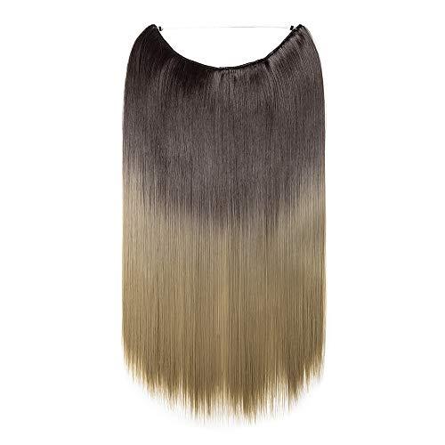 Rajout Extension Cheveux Fils Transparant Fil Invisible Cheveux Lisse Monobande - Extension Cheveux Synthétique 50CM(20 pouces)