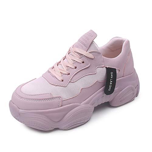 Dames Mesh Dikke Sneakers Mode Dikke Onderkant Vulcaniseer Schoenen Jogging Fitness Sportschoenen Zomer Ademend Veterschoen Platform Sneakers