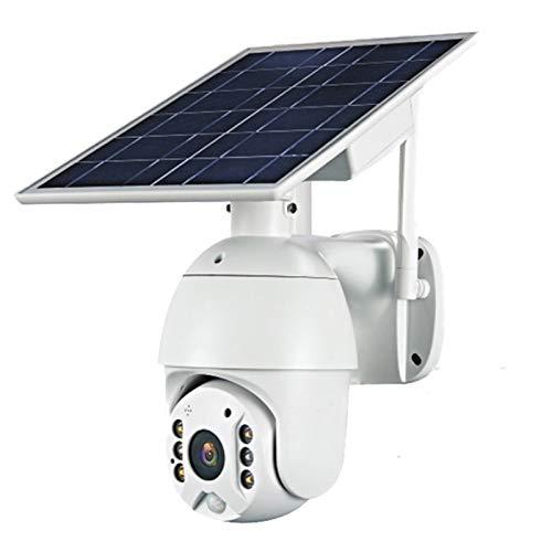 Telecamera di sorveglianza Solare, Pannello Telecamera Esterna 4g Sim 1080p HD Solar 2 Milioni di Pixel CCTV Surveillance Ip Camera Smart Home bidirezionale Allarme Audio Lungo Standby (Color : 4G)