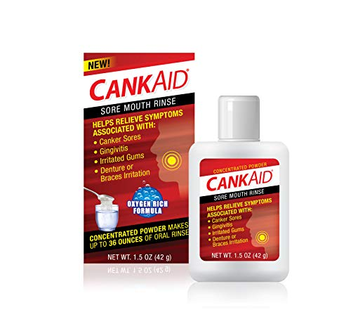 CankAid Mouth Rinse – Helps Relieve Canker Sores, Gingivitis, and Gum Irritation / Cleanse and Soothe Your Mouth / Concentrated Powder