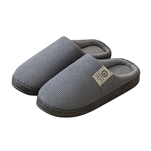 Dasongff - Zapatillas de estar por casa para mujer, cálidas, cómodas, de peluche, antideslizantes, anchas, ligeras, de fieltro, con espuma viscoelástica, antideslizantes, cómodas, unisex
