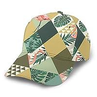 キャップ 帽子 野球帽 キャップ スポーツ帽子 エキゾチック ヤシの木 フラミンゴ ボールキャップ プリント 日よけ 紫外線対策 通気性抜群 速乾 軽薄 日よけ カジュアル アウトドア スポーツ 山登り 釣り ゴルフなどに メンズ 男女兼用 カジュアル