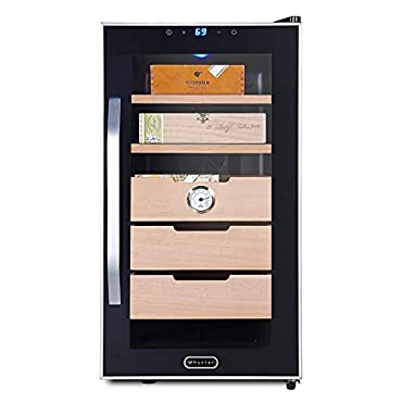 Whynter CHC-172BD Elite Touch Control Stainless 1.8 cu.ft. Cigar Humidor, Black