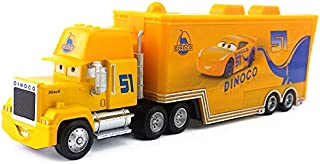 Pixar Cars Toys Lightning McQueen Jasckson Storm The King Mack Hauler Truck Diecast Toy Cars 1:55 Loose Kids Toys Vehicle (Cars 3 Cruz Hauler (Normal))