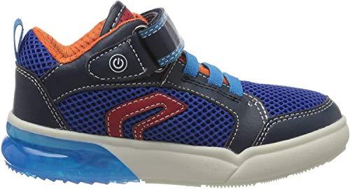Geox Herren J GRAYJAY Boy D Hohe Sneaker, Blau (Navy/Lt Blue C0693), 36 EU
