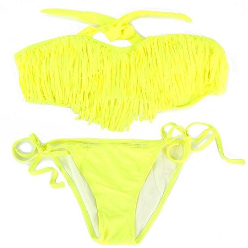 SSITG Dames bikini met Quast Bandeau Dames Badmode Tassel Bandeau Fringen Top Bikini Bottom Beach Swimsuit Swimwear Gift