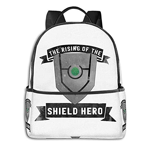 Anime & The Rising Of The Shield Hero - Mochila escolar clásica para estudiantes, ciclismo, ocio, viajes, camping, al aire...