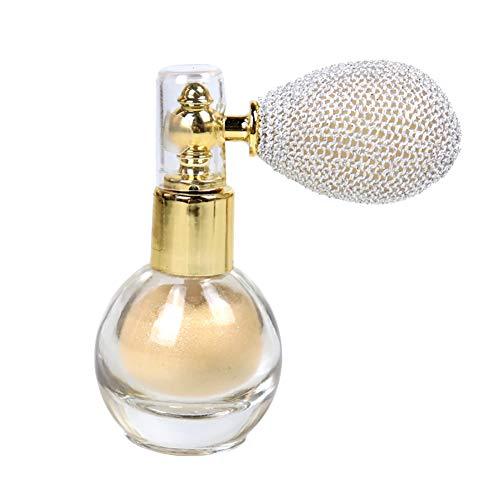 Spray de polvo con purpurina brillante para resaltar el aroma en polvo de maquillaje para cara, pelo corporal, color blanco