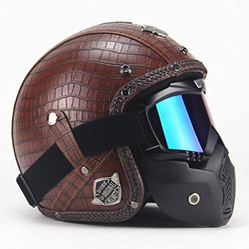 Offener Motorradhelm Modularer Motorradhelm Elektrischer Fahrradhelm Roller Motorradhelm Maske Mundfilter