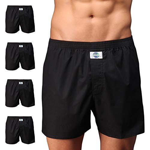 D.E.A.L International 5er-Set Boxershorts, schwarz Size M