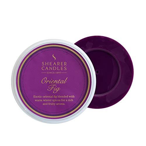 Shearer Candles à Tarte, parfumée Melt, Cire de Paraffine, Huile parfumée, Plastique, Clair, Violet, Doré, H : 27 mm x l : 74 mm