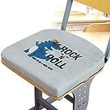 YEARLY Premium Memory-Schaum Sitzpolster, Verdicken sie Stuhlauflage Plüsch Rutschfeste Indoor Outdoor Schule Student Klassenzimmer Orthopädisches sitzkissen-Grau 37x35x4cm(15x14x2inch)