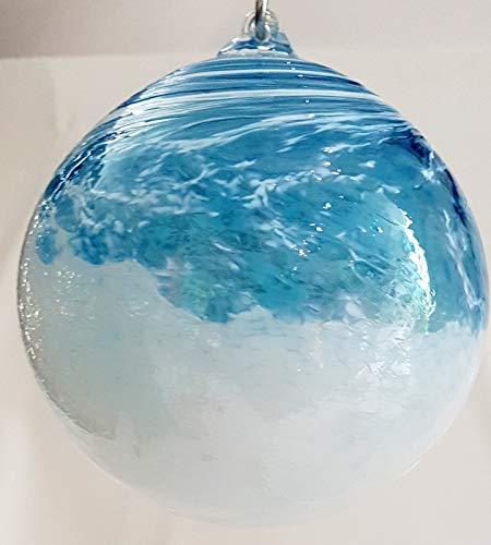 Spinnenkugel Glaskugel Fensterkugel 100mm klar//blau Spinnenkugeln von GlasXpert