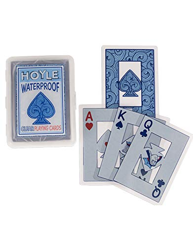 Hoyle Waterproof Clear Pl   aying Cards