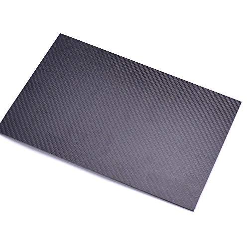 LOKIH 100{5e358359fbf7fc815824aafa58f485b7c130e0d3c0d075a24c9025e8511e0597} 3K Carbon-Faser-Platte Plain Weave Stärke 2mm 2,5mm Plattenblatt,200mmx300mmx2.5mm