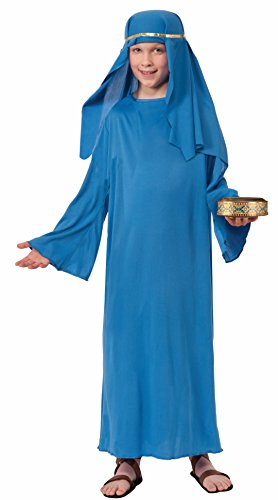 Forum Novelties Biblical Times Shepherd Blue Costume Robe, Child Medium